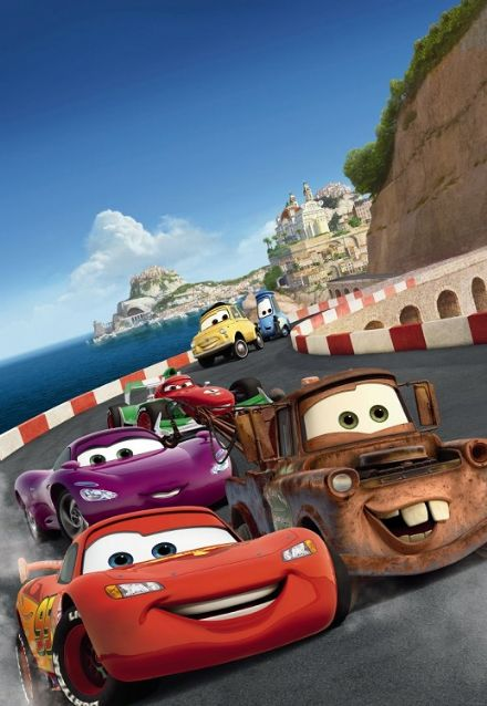 "Cars ""Race in Italy"" wall mural"